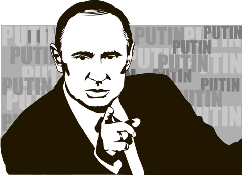 illustration of Putin