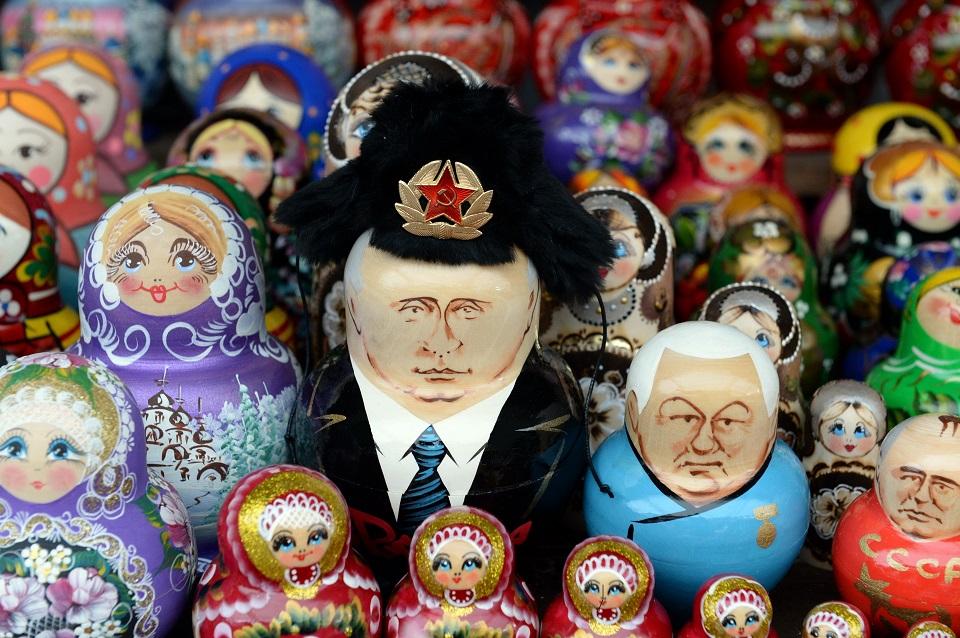 Vladimir Putin and Boris Yeltsin