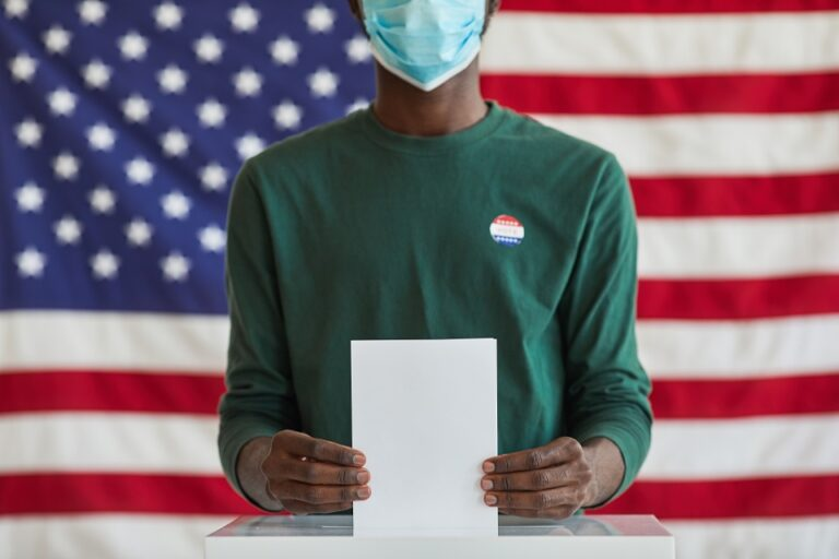 voting with mask